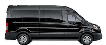 10 passenger mercedes sprinter transportation and transfer van with luggage photo
