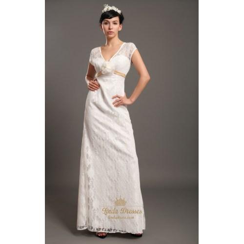Medium Crop Of Ivory Lace Dress