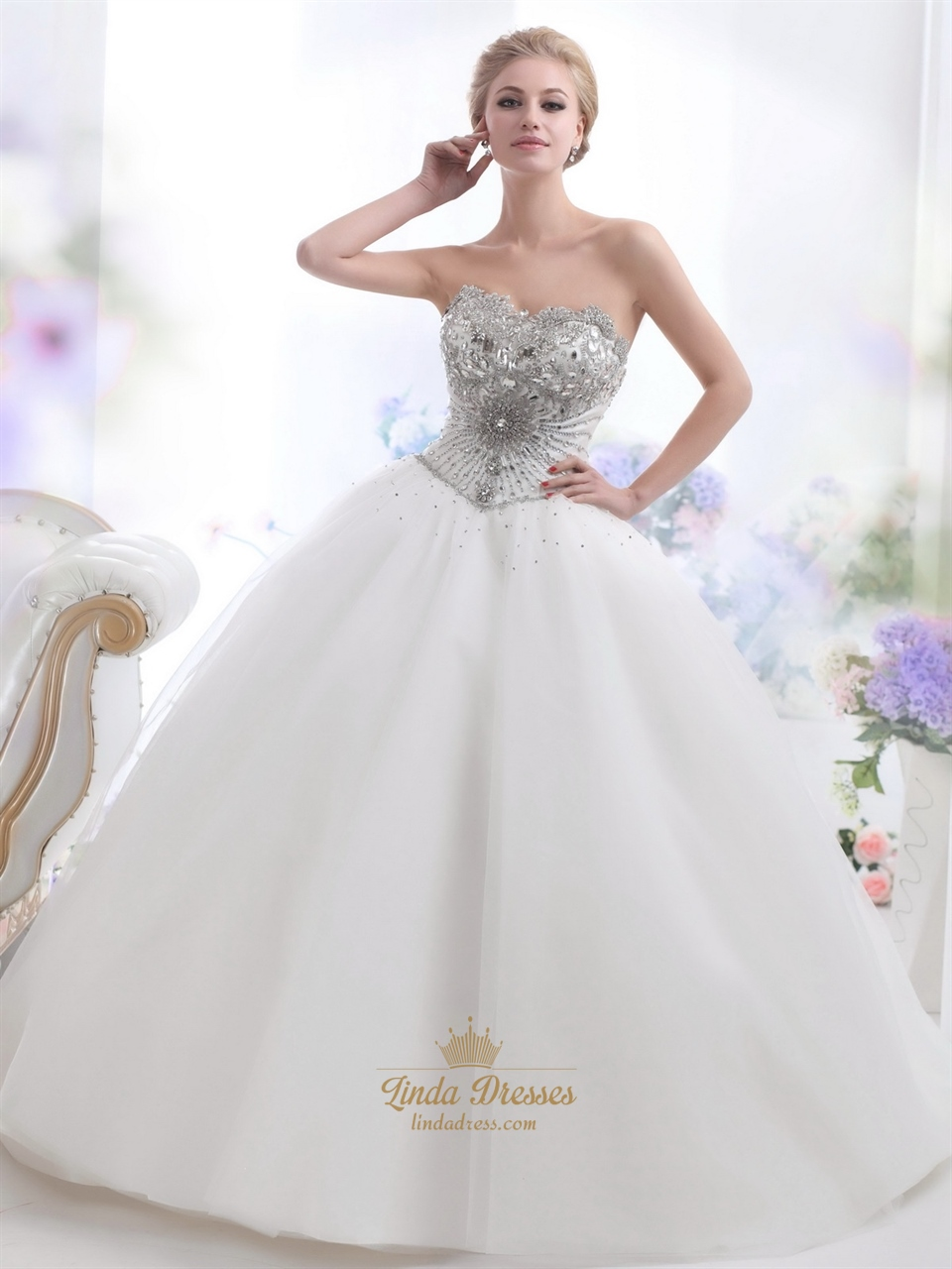 sequins wedding dresses sweetheart sleeveless crystal organza ball gown floor length lace up bridal gowns bo wedding ball gown dresses Sequins Wedding Dresses Sweetheart Sleeveless Crystal Organza Ball Gown Floor Length Lace up Bridal Gowns BO