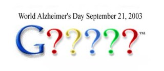 Google logo graphic for World Alzheimers Day?