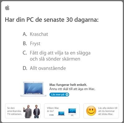 Kaxig reklam: Apple Computer Inc. - Har din PC fryst eller krashat de senaste dagarna.