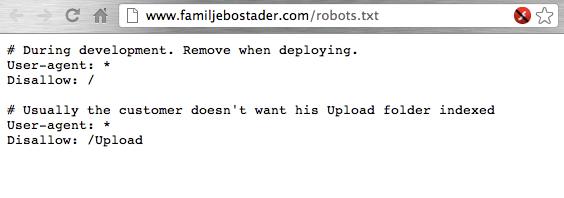 robots.txt på familjebostader.com