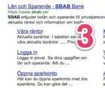 Bara sju träffar på förstasidan i Google-resultatet