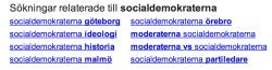 relaterade sökningar för socialdemokraterna