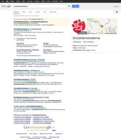 Socialdemokraterna i Google 2013-03-07