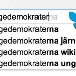 Sverigedemokraterna i Google-resultaten