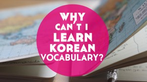 Why Can't I Learn Korean Vocabulary? (+ what I'm doing to fix it)