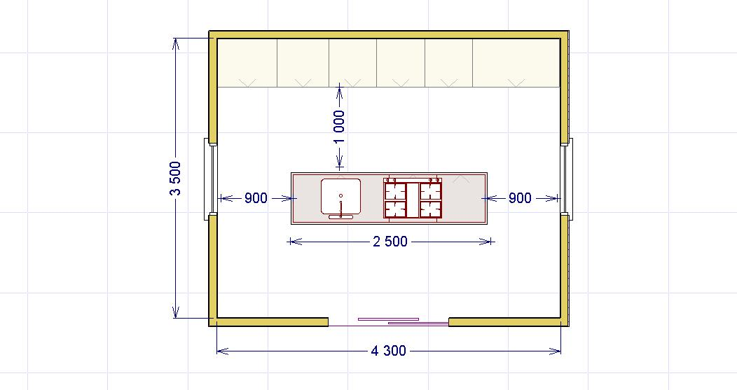 La cucina ad isola lineatre arredamenti - Cucina con isola dimensioni ...