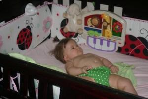 Lyla's crib… sleep baby sleep (please)