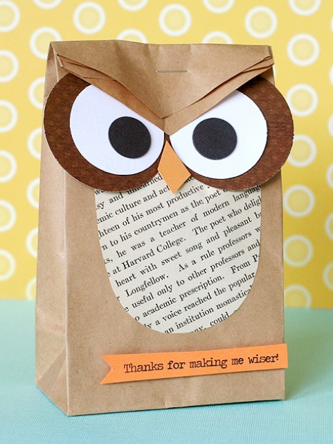 Adorable owl crafts lines across kerrys paper crafts makes these colorful owl pillow boxes these would be great to use at an owl themed baby shower negle Images