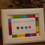 Embroidery Thread Wrapped Picture Frame