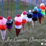 Ice Cream Ornaments {Christmas Ornament #4}