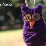 Simple Yarn and Button Owl Ornament {Christmas Ornament #5}