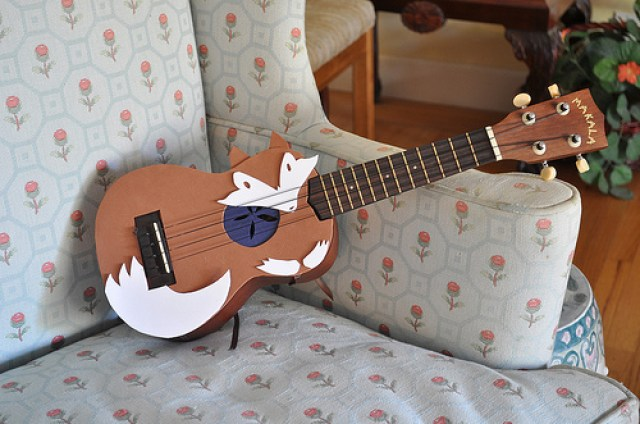 I heart foxes a collection of fox inspiration and for Decoration ukulele