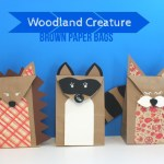 Woodland Creature Brown Paper Bags (and a Giveaway)