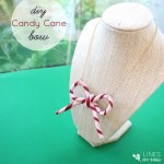 Candy Cane Bow Necklace (or Ornament)