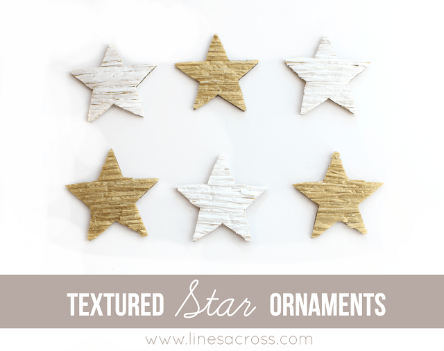 Textured Star Ornaments
