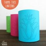 Thumb Tack Paper Lanterns