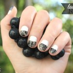 Runway Inspired Lace Tip Nails