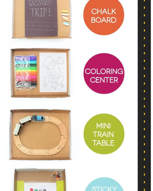 Cardboard Box Top Activity Tables