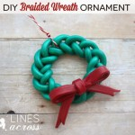 Handmade Braided Wreath Ornament