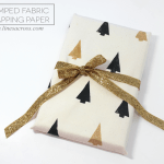 Stamped Fabric Wrapping Paper