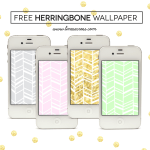 Free Herringbone iPhone Wallpaper