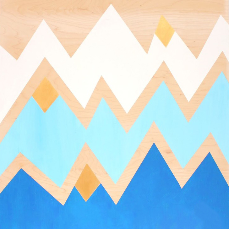 Geometric Mountains DIY Wall Art