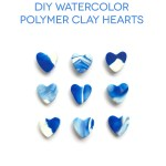 DIY Watercolor Polymer Clay Hearts