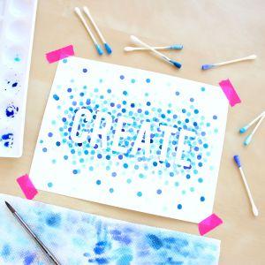 Watercolor for Beginners 4 – Polka Dot Art
