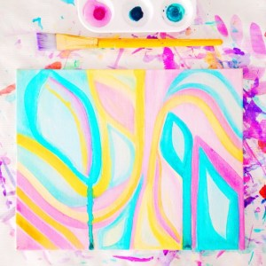 DIY Abstract Watercolor Canvas