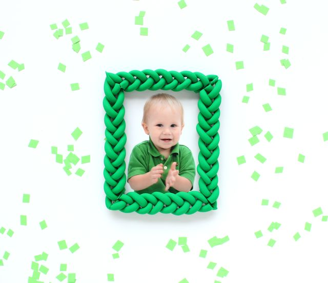 Braided Clay Picture Frames - Lines Across