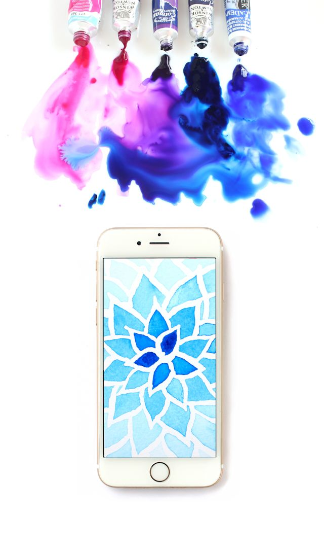 Free Watercolor Wallpaper by @linesacross