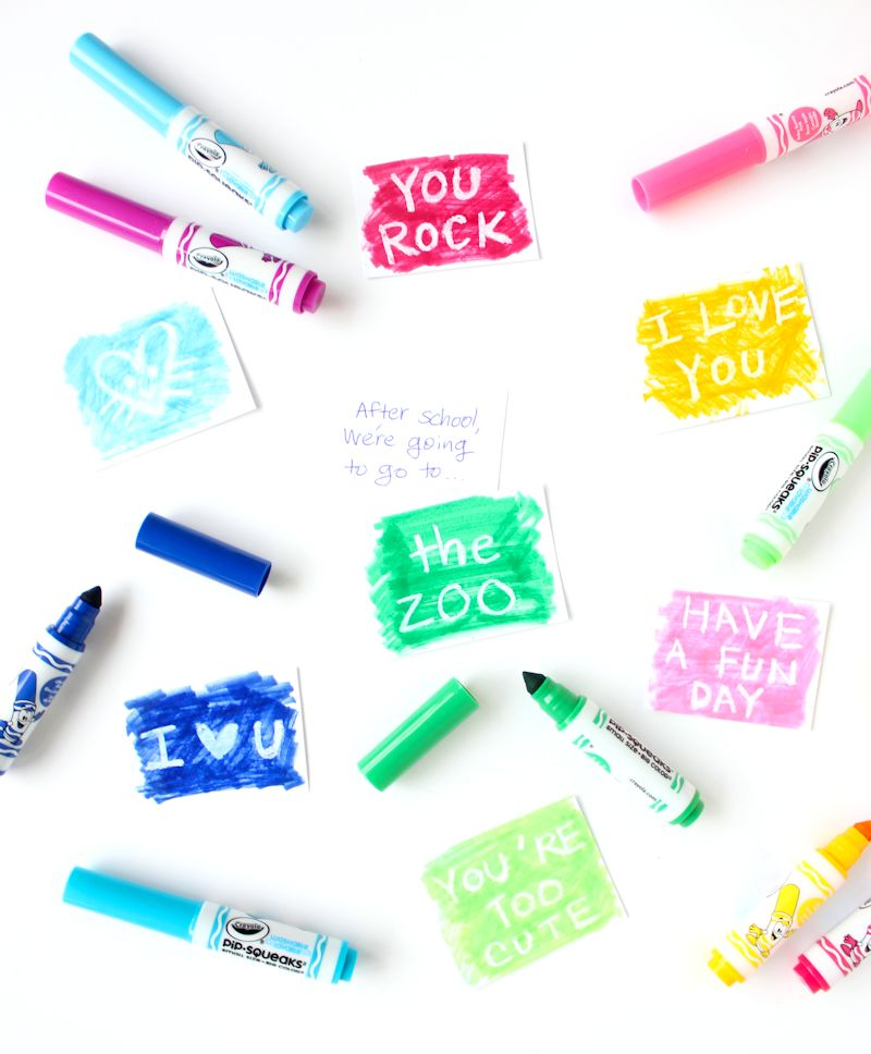 Use white crayons to create secret messages