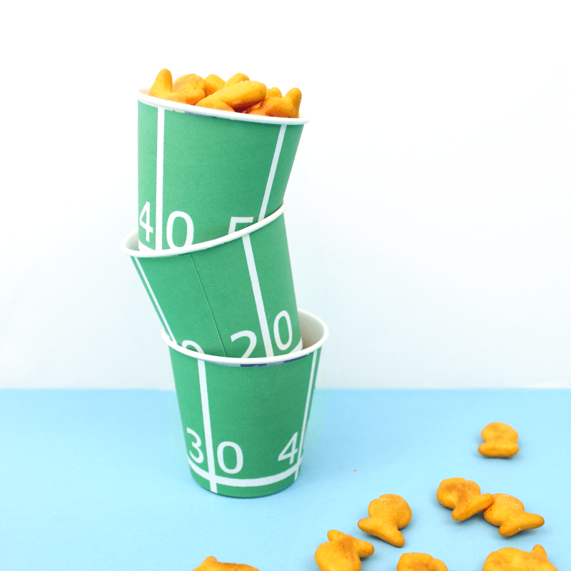 Printable Football Field Snack Cups
