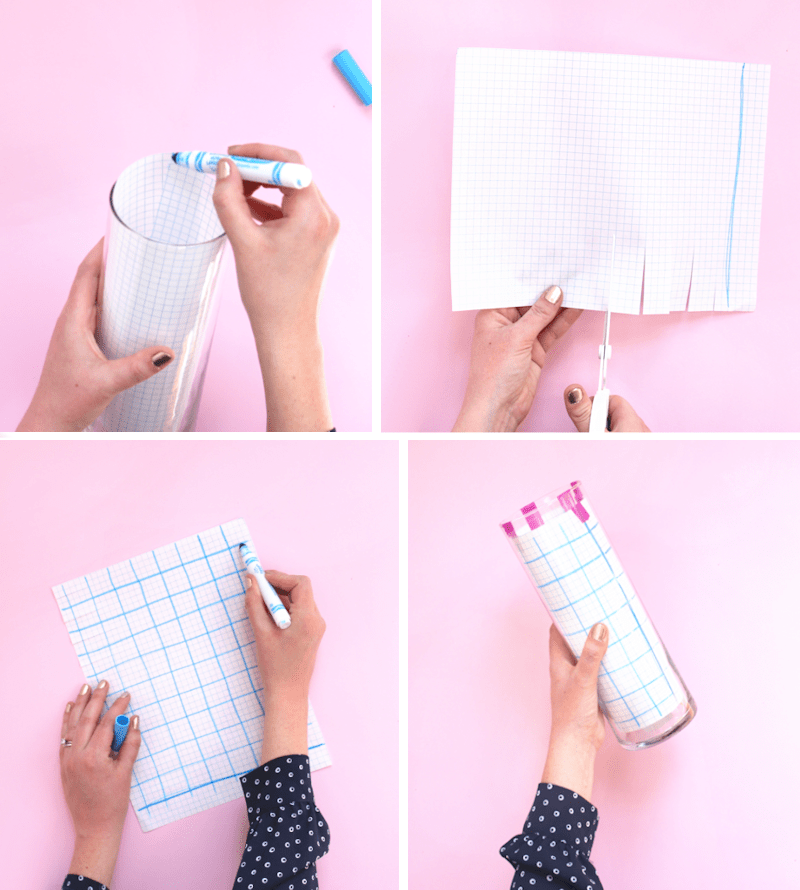 how to make a grid to paint a vase