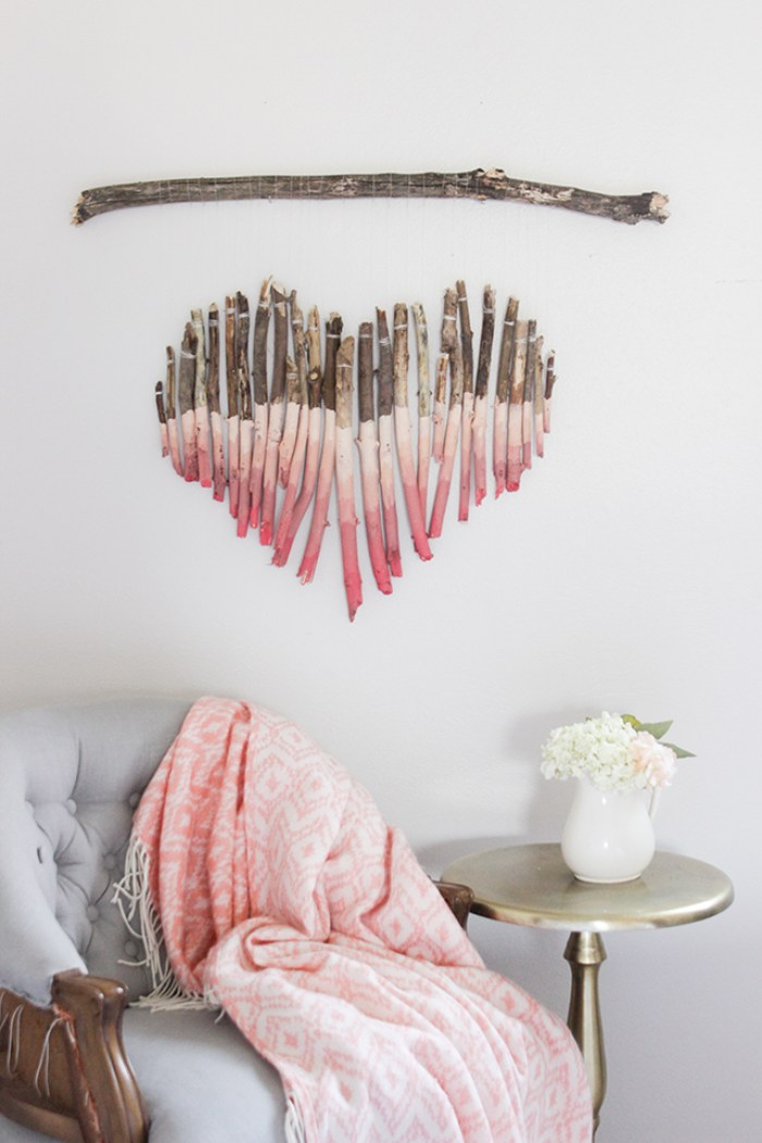 Diy Wall Art Hearts : Recycled crafts for earth day lines across