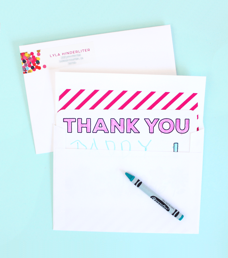 Tiny Prints Thank You Cards - Lines Across 4