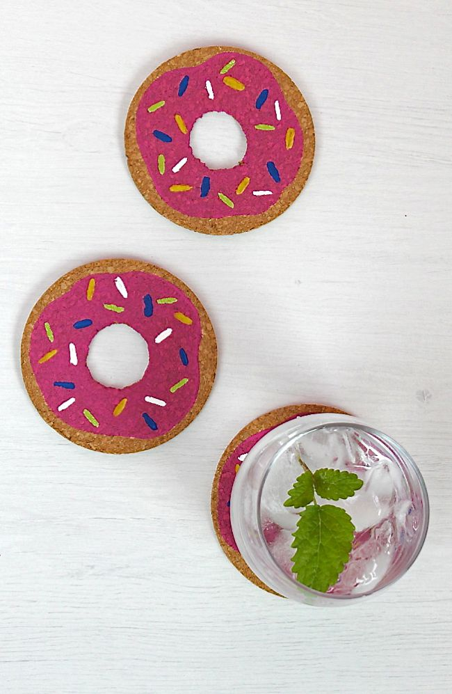 donut DIY coasters
