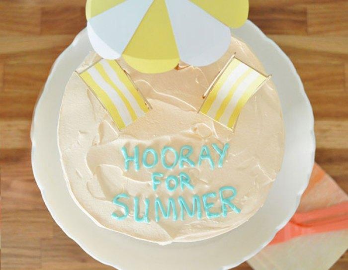 Beachy DIY Cake Toppers