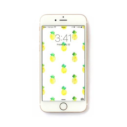 Freebie Friday – Pineapple iPhone Wallpaper