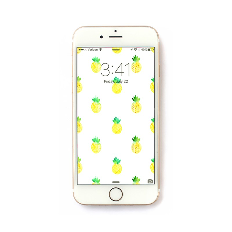 Freebie Friday – Pineapple iPhone Wallpaper