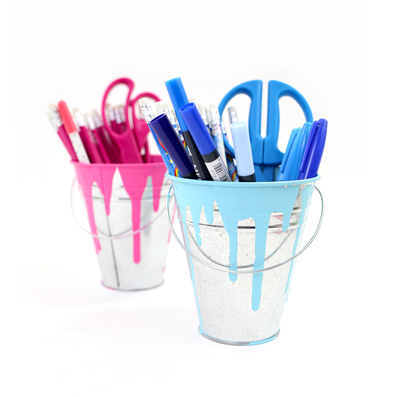 Messy Paint Bucket DIY Pencil Holder