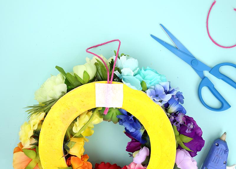 Rainbow Wreath - Step 4