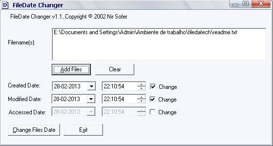 file date change