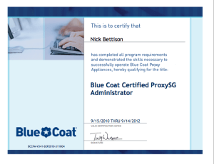 Blue Coat Cerified ProxySG Administrator