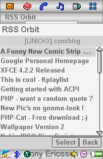 my RSS feed via orbit mobile rss