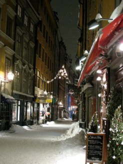 Stockholm old city during Christmas