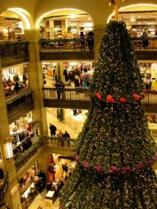 Christmas in the NK shopping centre, Christmas tree, Stockholm