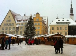 Christmas market in Tallinn main square